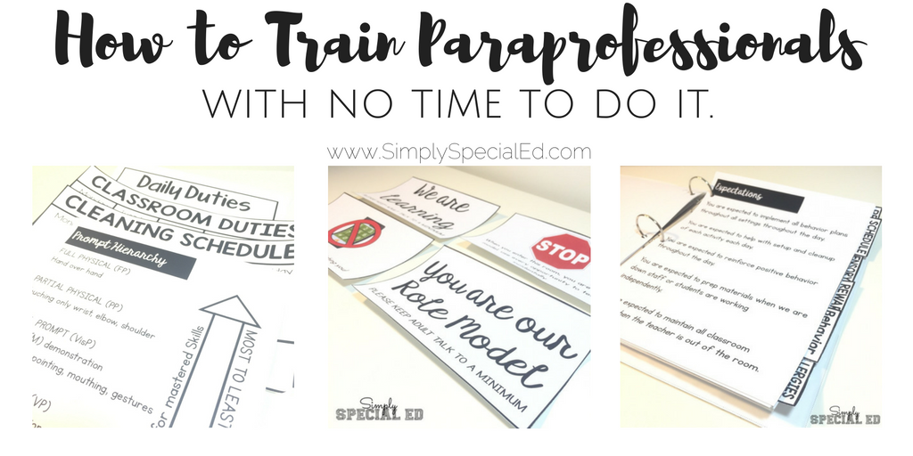 When Is Use Of Paraprofessionals >> How To Train Paraprofessionals With No Time To Do It Simply Special Ed