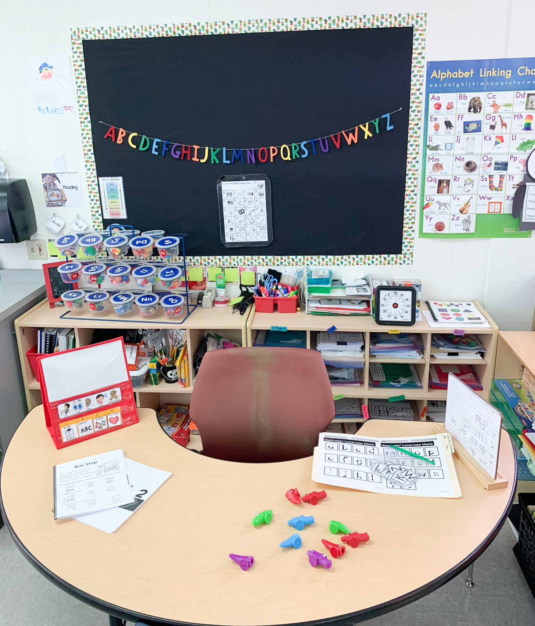 Here is my Art/Science/ELA center.