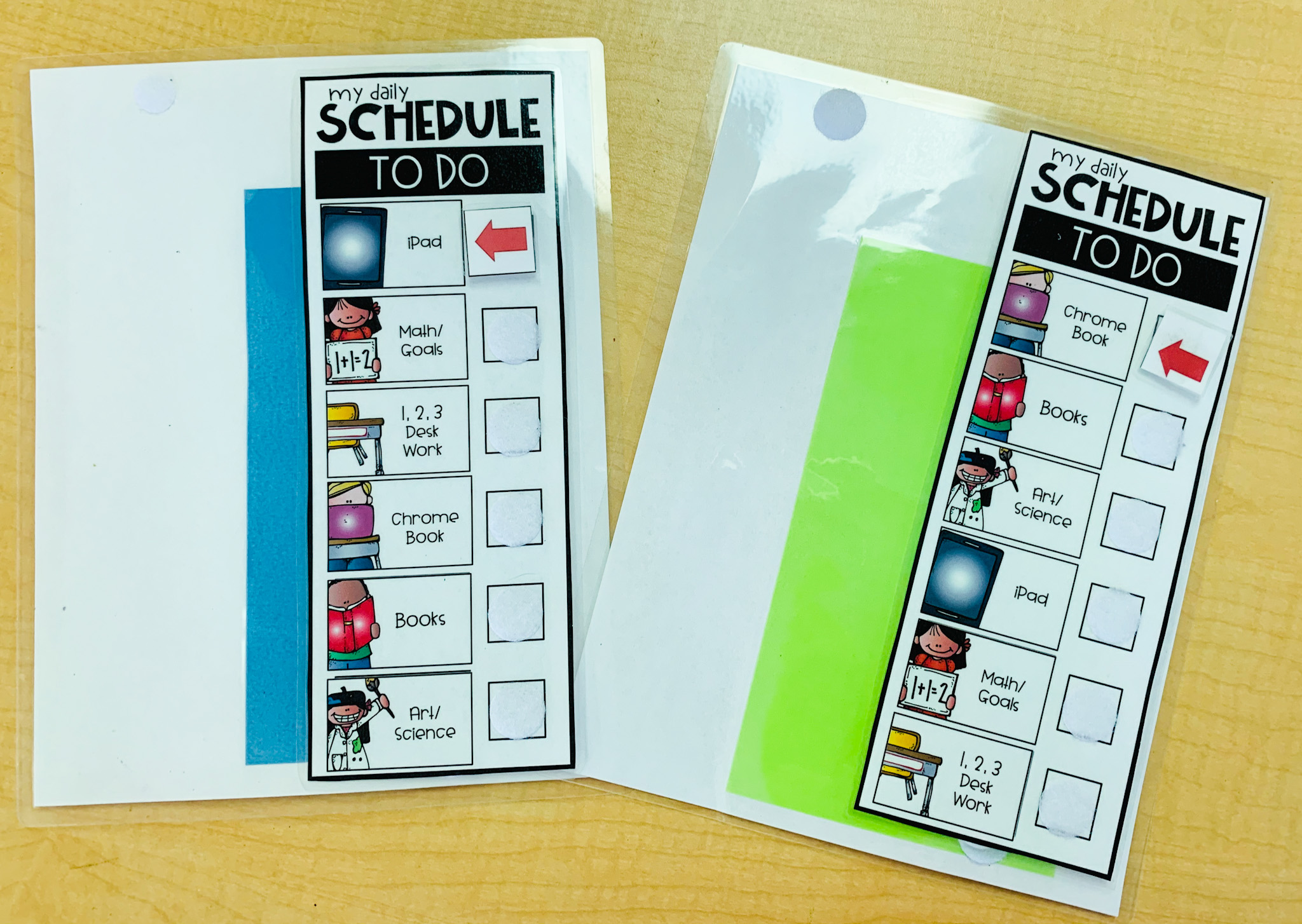 Here is a photo of my student schedules.