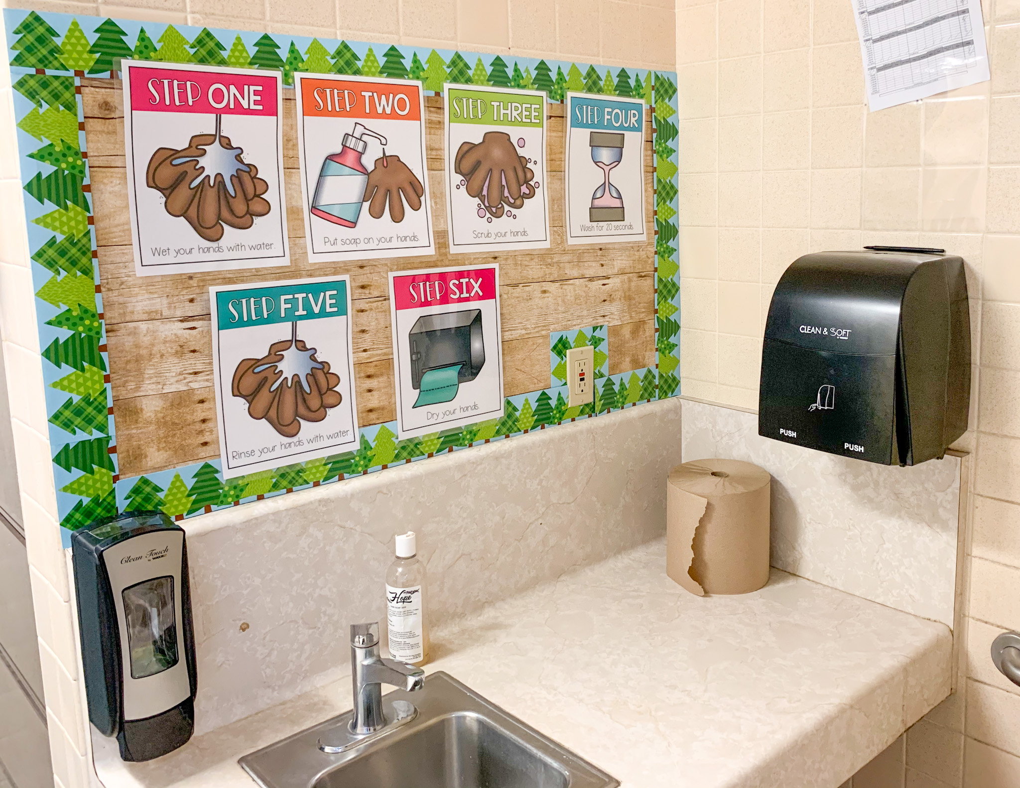 Here is one of the sinks in my classroom.