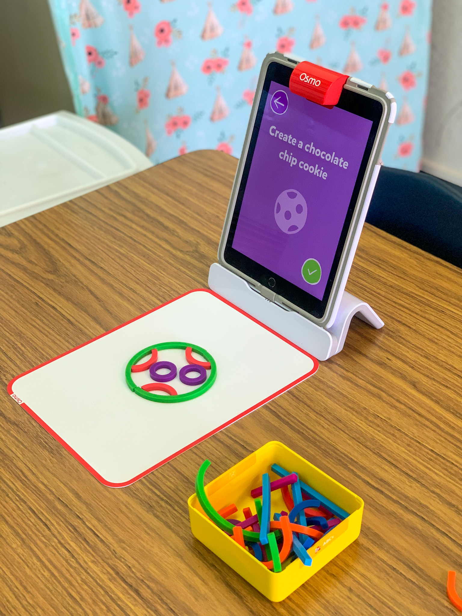Here is my Osmo Center with the app and game Squiggle Magic.