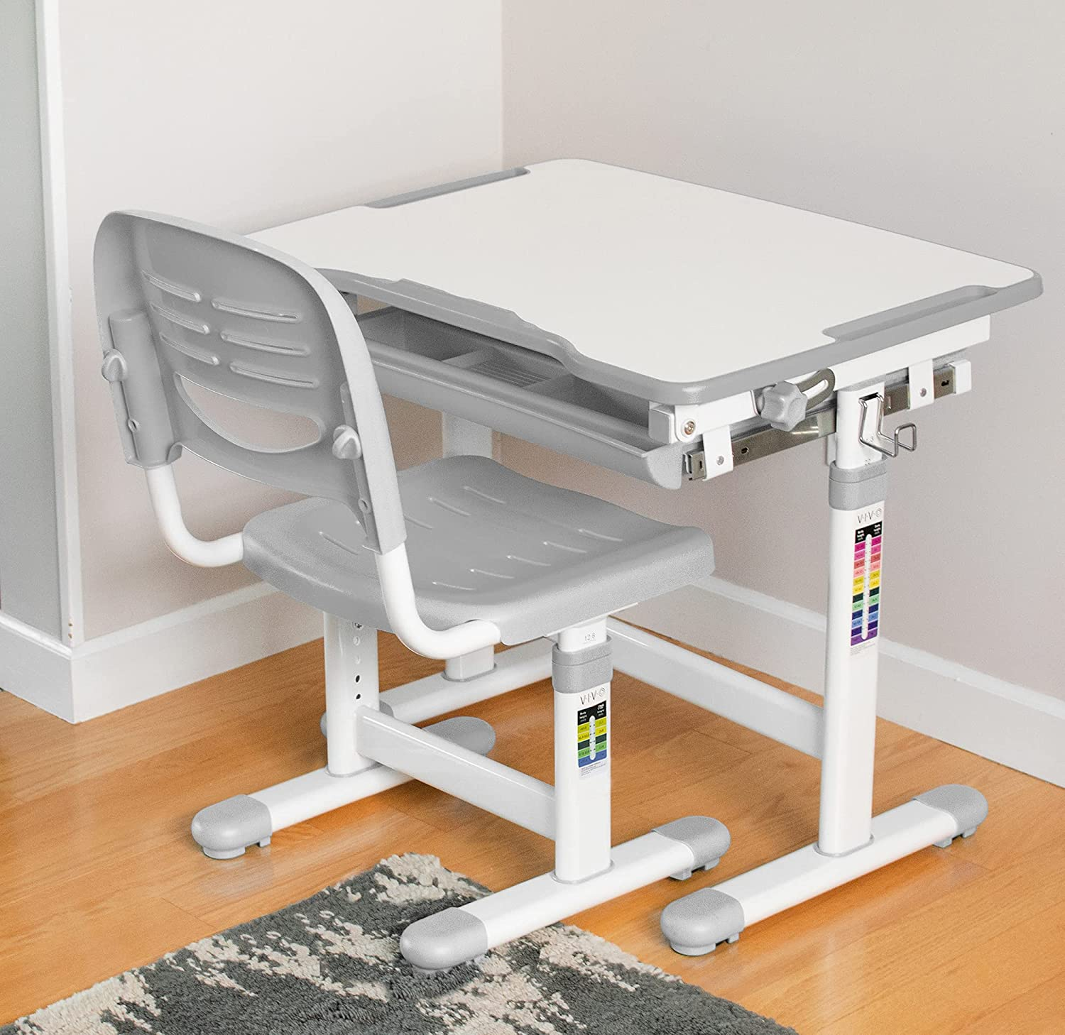 Here is a photo of an adjustable standing desk.