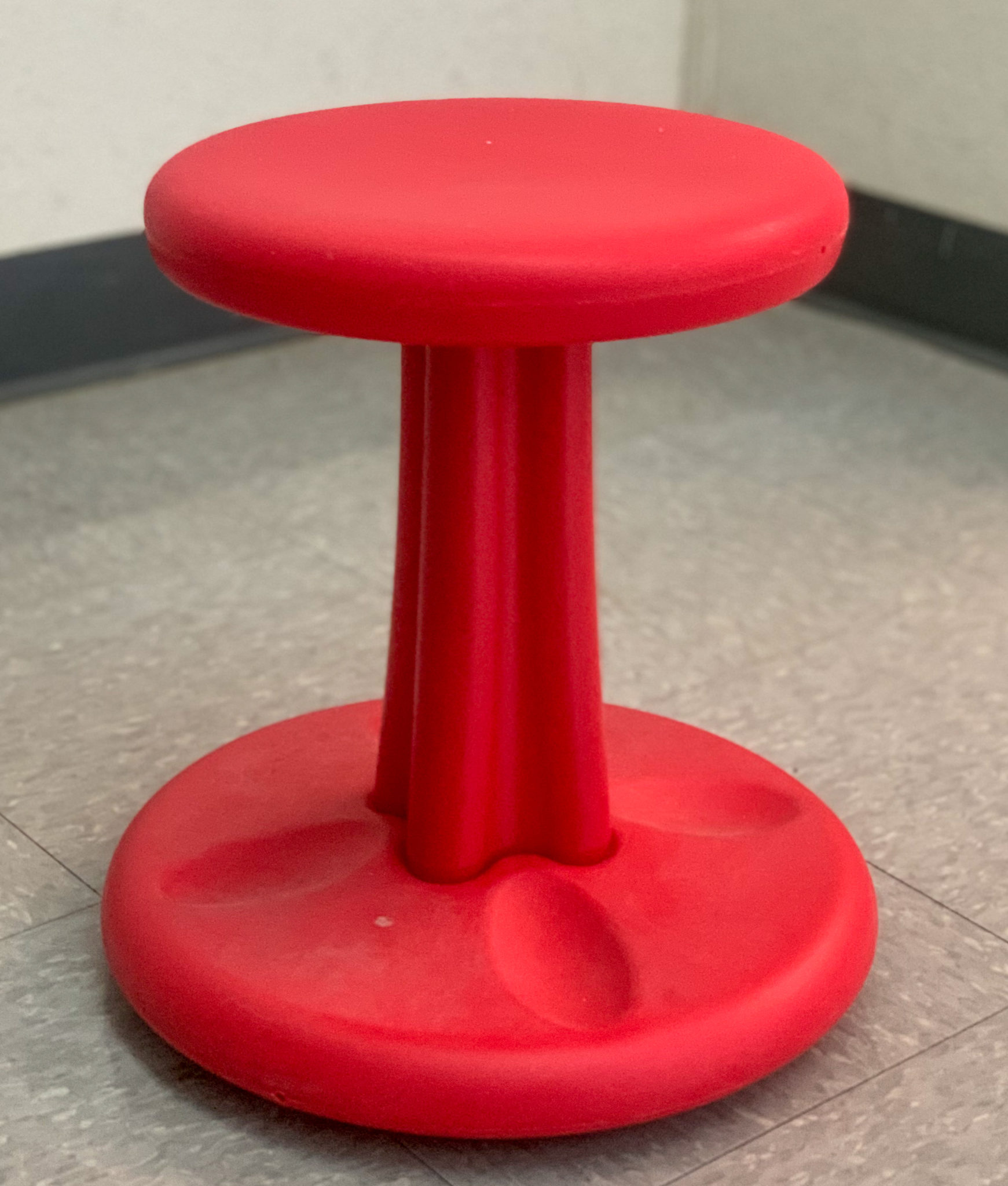 This is a photo of a wobble chair I use in my classroom.