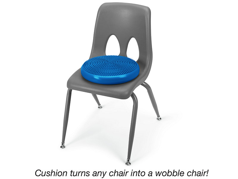 This is a photo of a wobble cushion from Lakeshore.